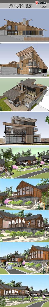 木结构住宅建筑设计 skp