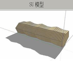 木质异形坐凳