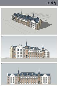 欧式风格宿舍楼建筑设计