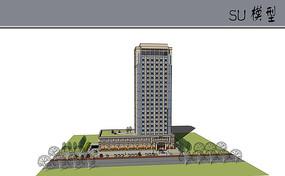 欧式酒店场景模型