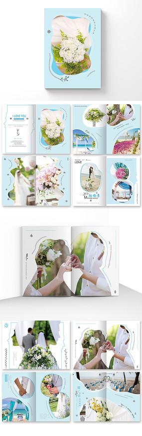 清新婚纱影楼宣传册设计