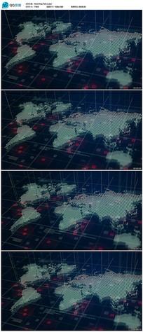 世界地图背景视频