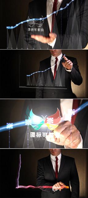手指绘制商业图表展示ae模板