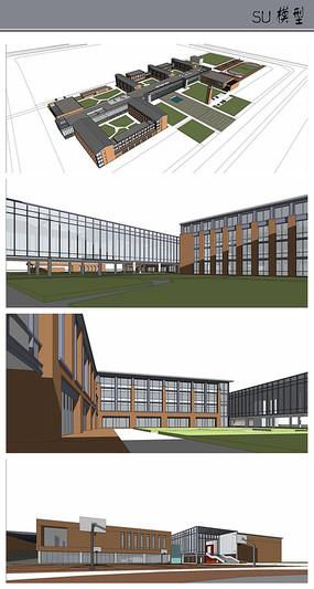 小学校园规划设计模型