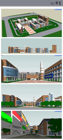 小学校园景观模型