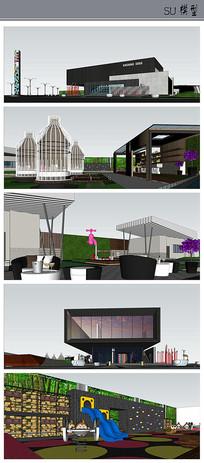 新尚国际售楼处景观方案
