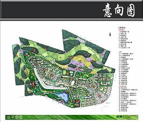 北京京南小区景观彩平图