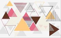 北欧简约个性抽象几何背景墙