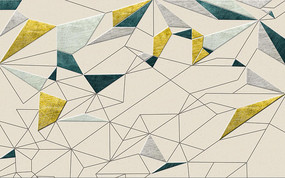 北欧清新几何图形多边形背景墙
