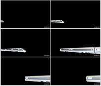 高铁和谐号高速行驶带通道视频