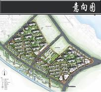 南昌某住宅景观彩平图