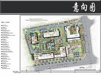 西子九堡公寓景观平面图