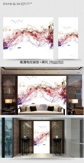 禅意中国风电视背景墙
