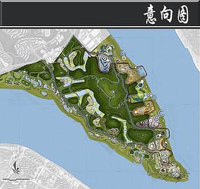 重庆钓鱼嘴片区公园群平面图