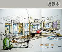 别墅二楼室内设计 JPG