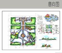 城市公园手绘设计 JPG