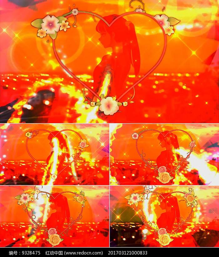 歌曲佛系少女舞台背景视频