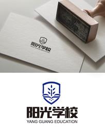 简洁大气教育logo