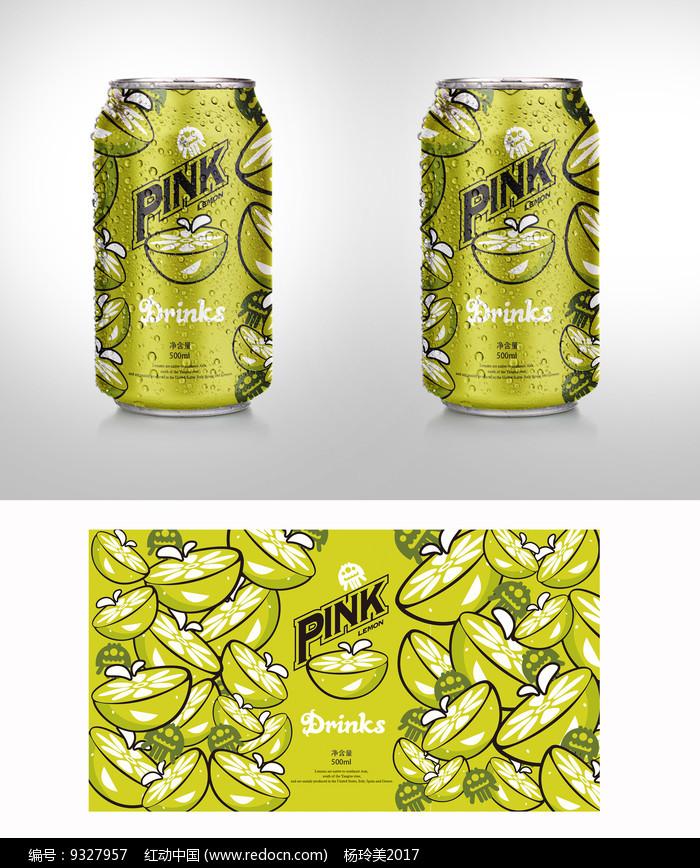 简约柠檬饮料包装图片