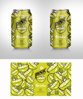 简约柠檬饮料包装