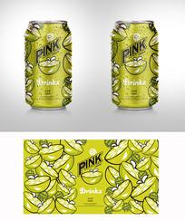 简约柠檬饮料包装 AI