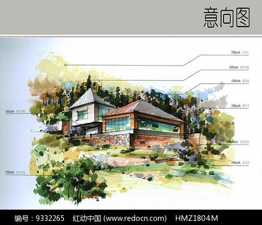 建筑景观手绘效果图