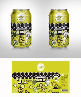 卡通手绘柠檬包装包装 AI
