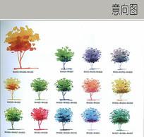 马克笔植物配色表