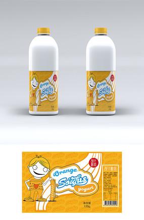酸奶卡通包装 AI