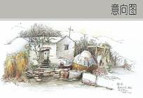乡村民居景观特写