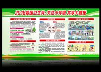 2018全国爱国卫生月宣传栏