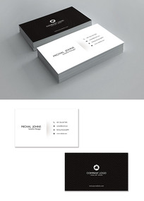 黑白色时尚简约名片设计