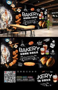 面包店背景墙装饰画