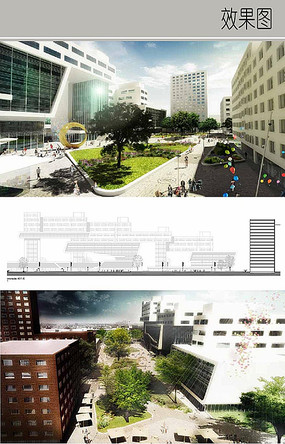 办公区公共绿化效果图 JPG