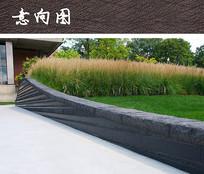 不规则树池矮墙 JPG
