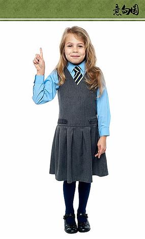 穿校服的女孩ps素材 PSD