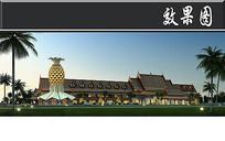 东南亚风古建筑效果图 JPG