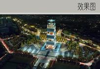 公园标志建筑效果图 JPG