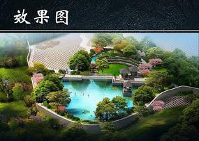 公园景观鸟瞰效果图