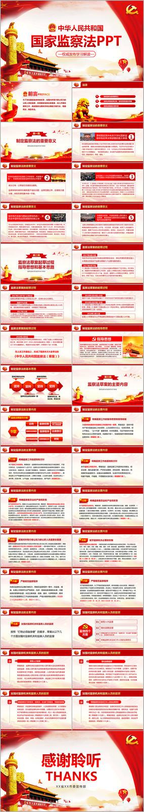 红色大气监察法学习解读党课PPT