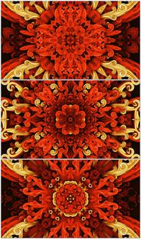 红色万花筒led背景视频素材