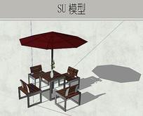 户外太阳伞桌椅