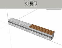 极简木条石 skp