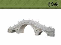 景观拱形桥ps素材