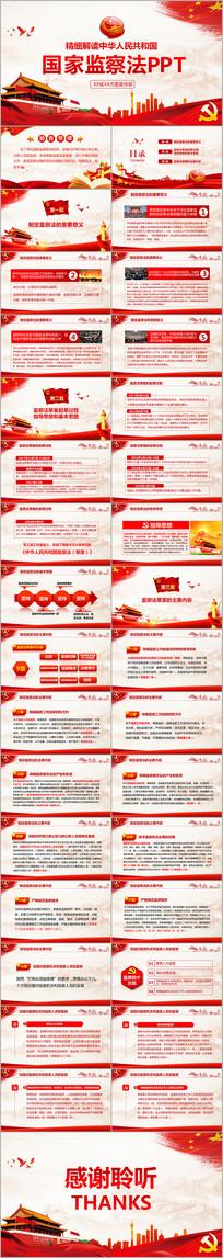 精细解读中华人民共和国监察法PPT
