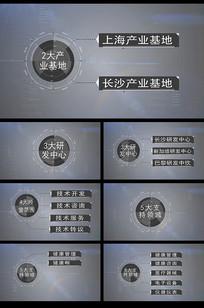 科技架构信息文字展示AE模板