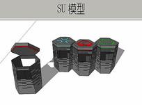 垃圾桶模型 skp