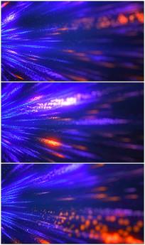 蓝色粒子光束背景视频素材