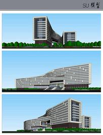 某多层办公楼建筑模型
