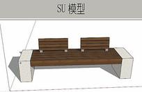 木石景观坐凳 skp